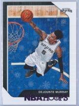 Dejounte Murray Panini NBA Hoops 2018-19  Purple Winter