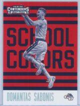 Domantas Sabonis Panini Contenders Draft Picks 2016-17 School Colors