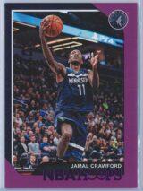 Jamal Crawford Panini NBA Hoops 2018-19  Purple