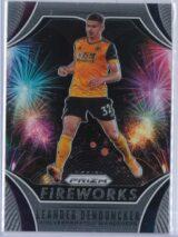 Leander Dendoncker Panini Prizm Premier League 2020-21 Fireworks