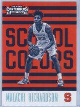 Malachi Richardson Panini Contenders Draft Picks 2016-17 School Colors
