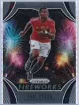 Paul Pogba Panini Prizm Premier League 2020-21 Fireworks