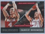 Rick Barry - Brent Barry Panini Basketball 2013-14 Family Business