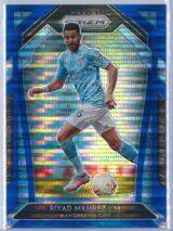 Riyad Mahrez Panini Prizm Premier League 2020-21  Retail Blue Pulsar