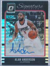 Alan Anderson Panini Donruss Optic Basketball 2016-17 Signature Series Holo  Auto