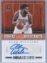 Alan Williams Panini NBA Hoops 2018-19 Great SIGnificance Auto