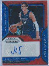 Boban Marjanovic Panini Prizm Basketball 2020-21 Sensational Signatures Red Choice Prizm Auto