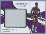 Charlie Scott Panini Immaculate Basketball 2018 19 The Standard 1125 1