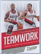 Damian Lillard - C.J. McCollum Panini Prestige Basketball 2016-17 Teamwork