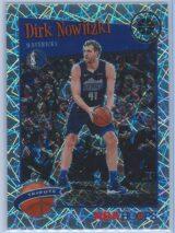 Dirk Nowitzki Panini NBA Hoops Premium Stock 2019-20 Tribute Silver Laser Prizm