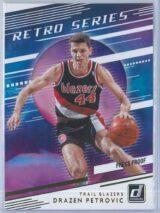 Drazen Petrovic Panini Donruss Basketball 2020-21 Retro Series   Press Proof