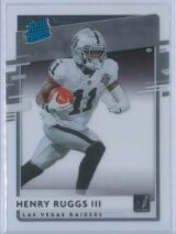 Henry Ruggs III Panini Chronicles Football 2020 Clearly Donruss  Rated Rookie
