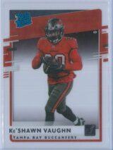 Ke'Shawn Vaughn Panini Chronicles Football 2020 Clearly Donruss  Rated Rookie
