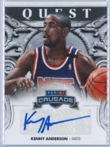 Kenny Anderson Panini Crusade Basketball 2013-14 Quest   Auto