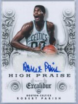 Robert Parish Panini Excalibur Basketball 2014-15 High Praise   Auto