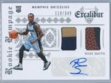 Russ Smith Panini Excalibur 2014 15 Rookie Rampage Duals 110349 RC Auto Jersey Ball Relic 1