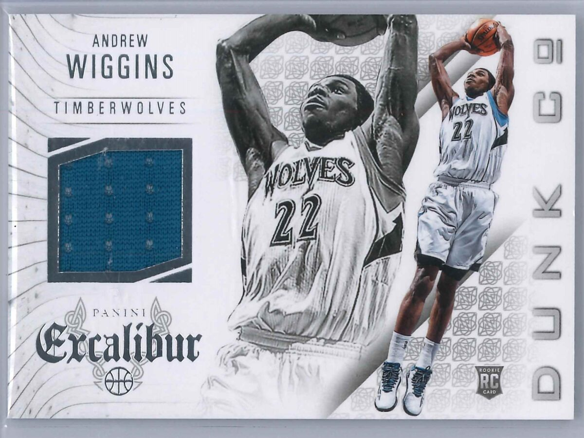 Andrew Wiggins Panini Excalibur 2014-15 Dunk Co Rookie Patch