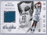 Andrew Wiggins Panini Excalibur 2014 15 Dunk Co Rookie Patch 1 scaled