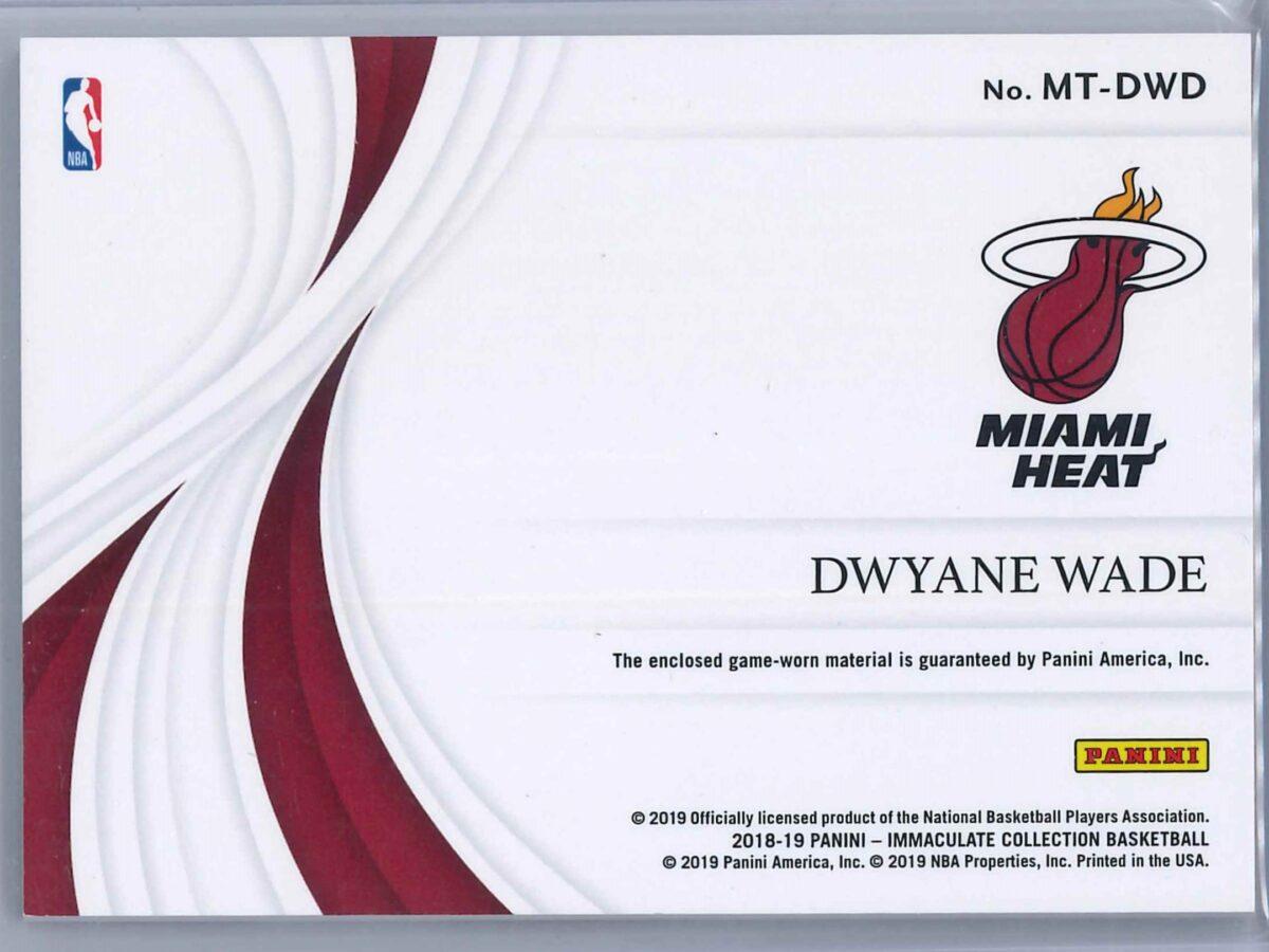 Dwayne Wade Panini Immaculate 2018-19 Materials 59/99