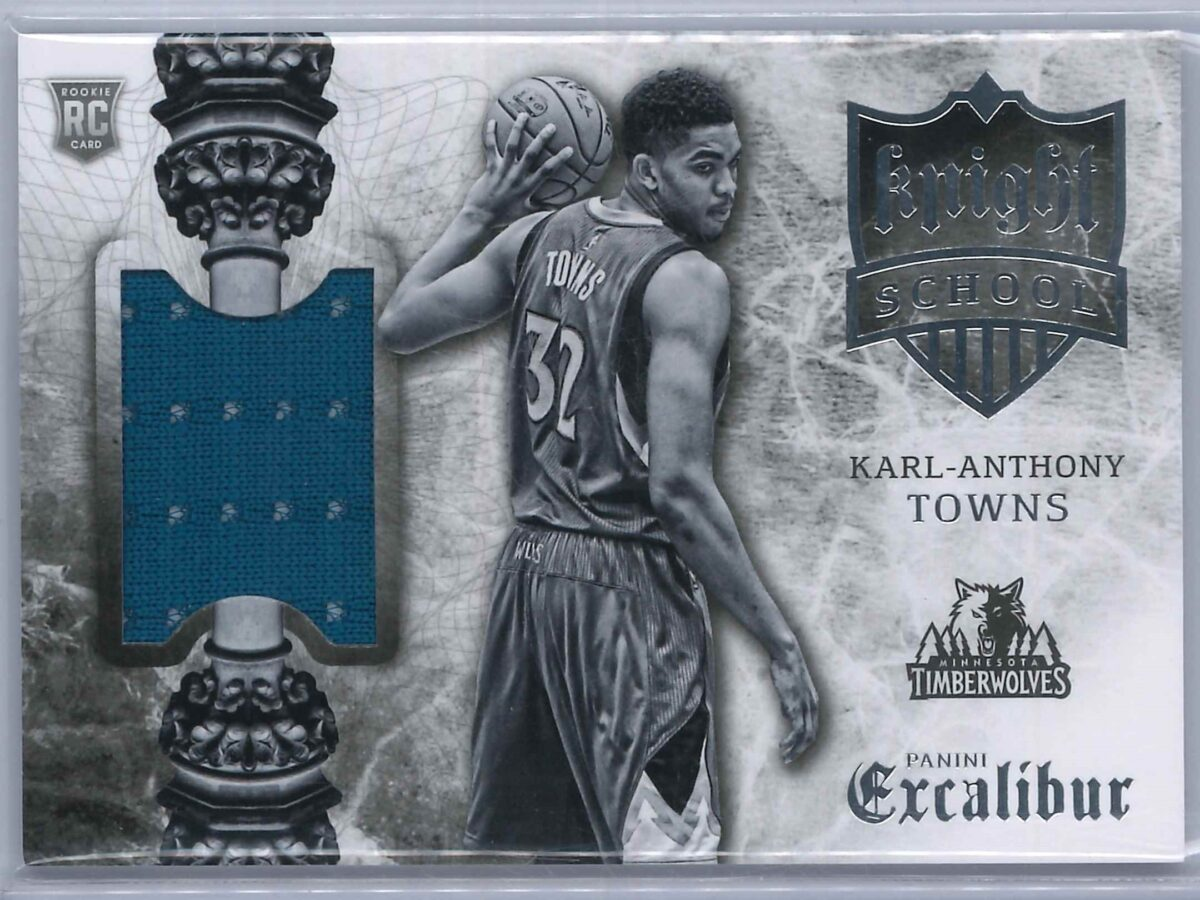 Karl Anthony Towns Panini Excalibur 2015-16 Knight School RC Patch