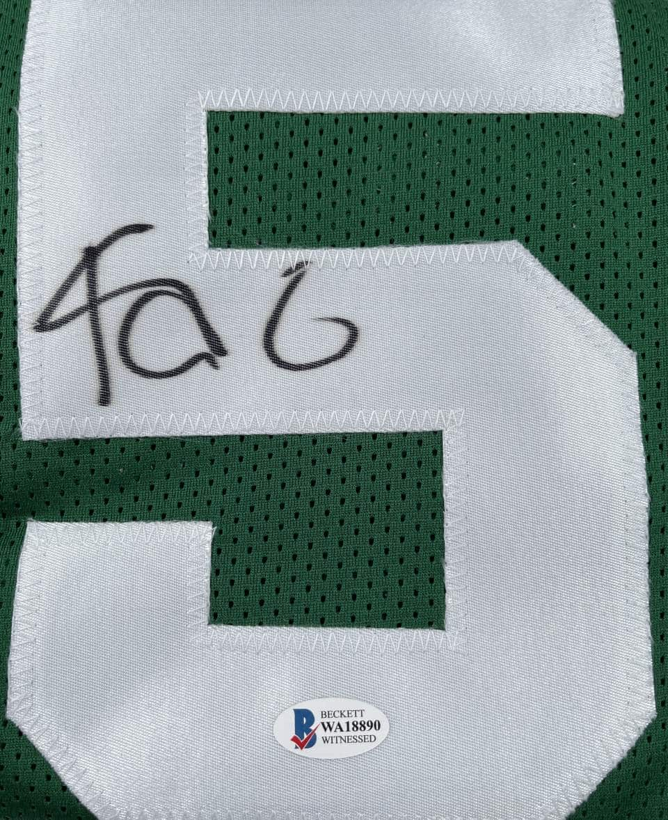 Kevin Garnett Authentic Signed Green Pro Style Jersey Autographed [BAS WA18890]