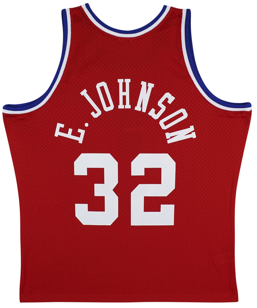 Lakers Magic Johnson Authentic Signed 1988 M&N HWC All Star Red Jersey [BAS MJ11969]