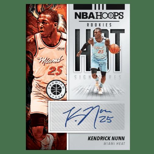 NBA Hoops Premium Stock Hot Signatures Rookies