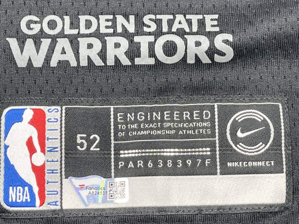 Warriors Stephen Curry Signed Black The Town Nike Swingman Jersey [Fanatics COA A824185]