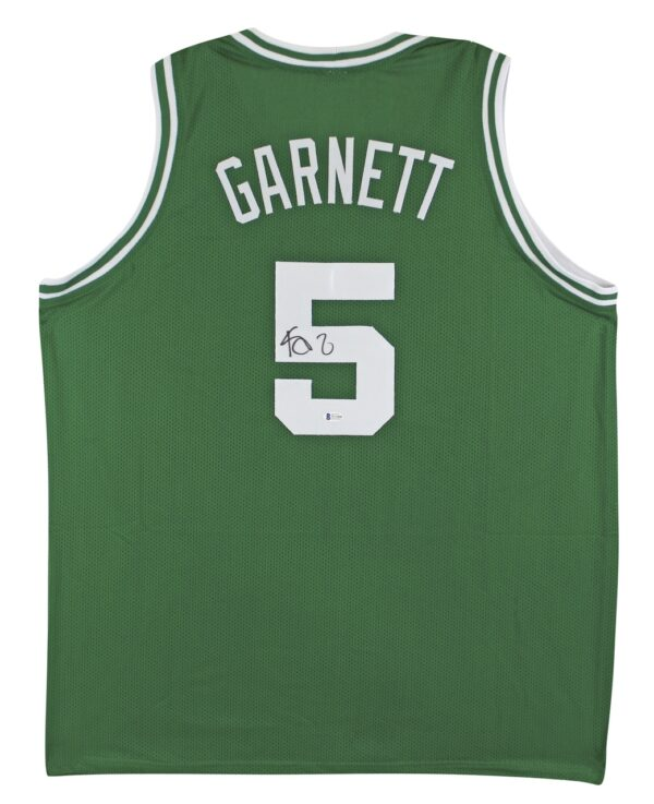 Kevin Garnett Authentic Signed Green Pro Style Jersey Autographed BAS Witnessed