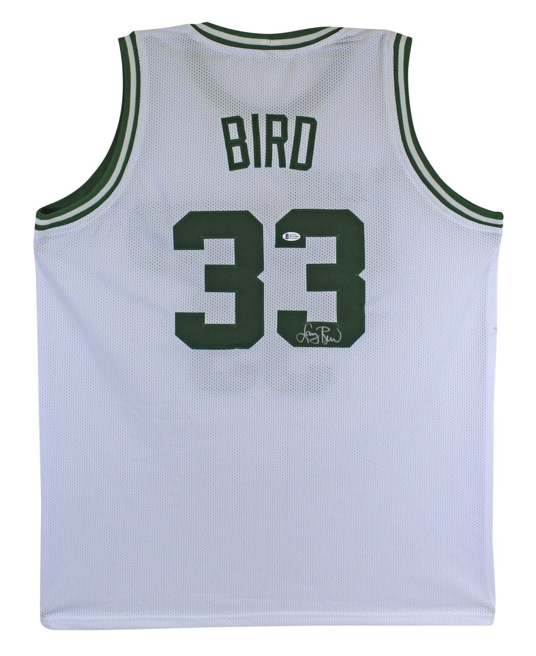 Larry Bird Authentic Signed White Pro Style Jersey Autographed BAS Witnessed