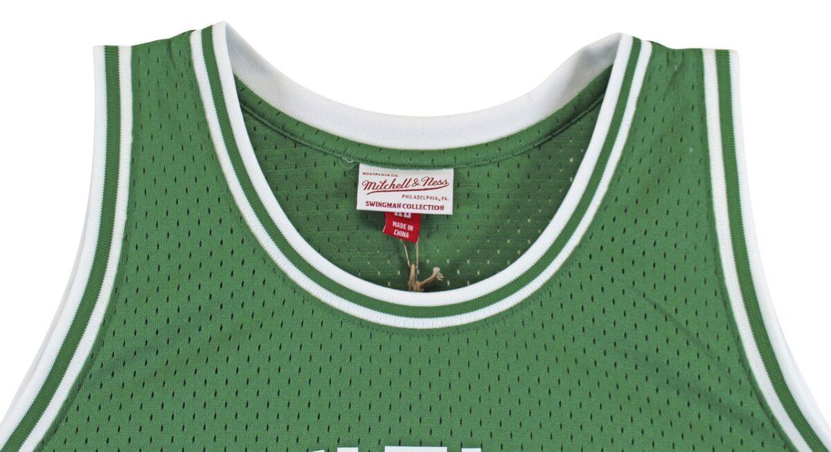 Larry Bird Authentic Signed 1985 Green M&N HWC Swingman Jersey BAS Witnessed