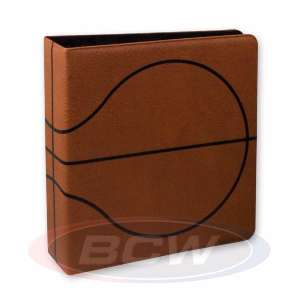 (product) 3 in. Album  Basketball Collectors Album  Premium Brown