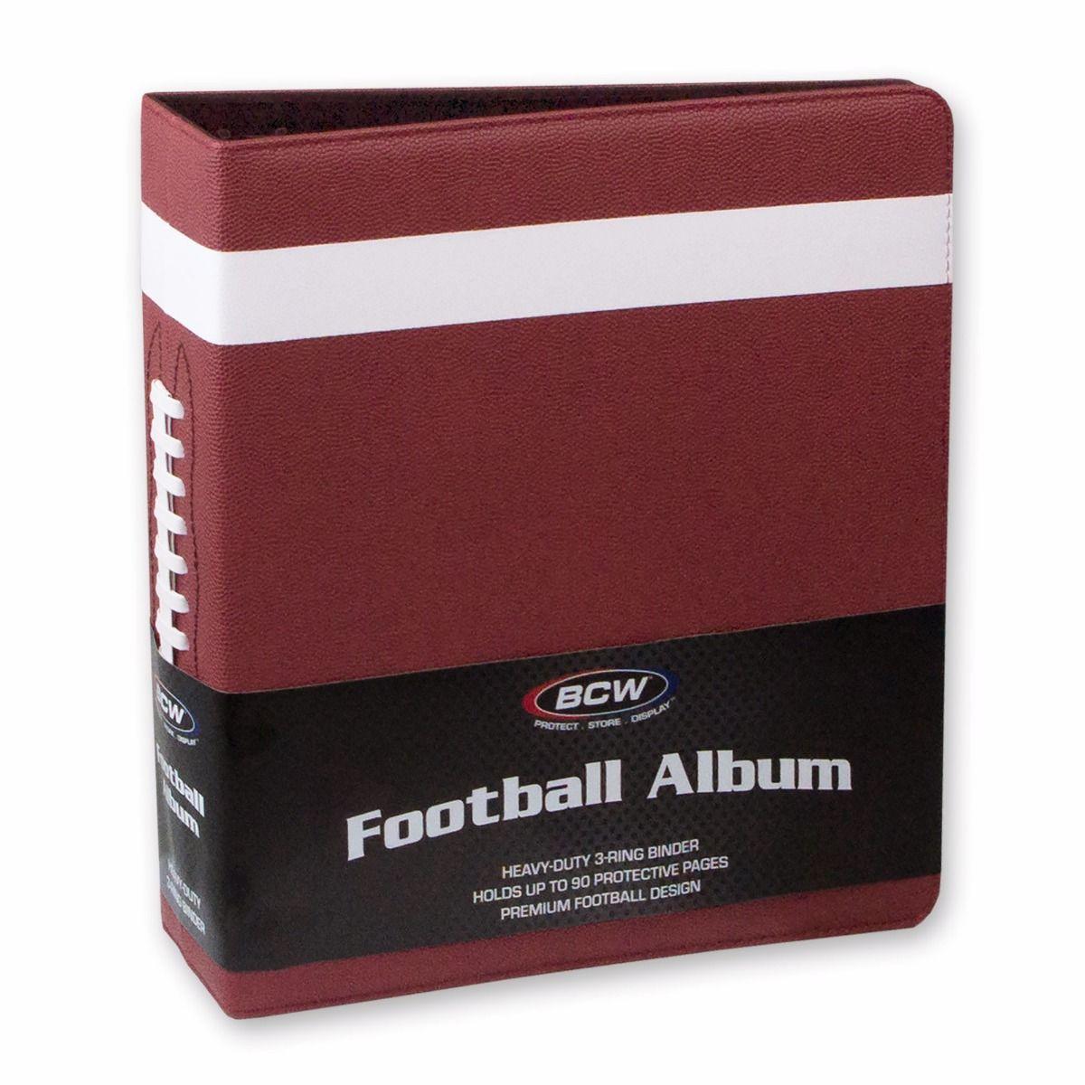 (product) 3 in. Album  Football Collectors Album  Premium Brown